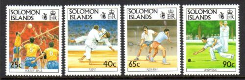 1991 SOLOMON ISLANDS 9th SOUTH PACIFIC GAMES SG698-701 mint unhinged