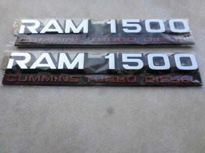 2 NEW PAIR CHROME /& RED 24 VALVE DODGE RAM 2500 3500 TURBO DIESEL EMBLEMS SET