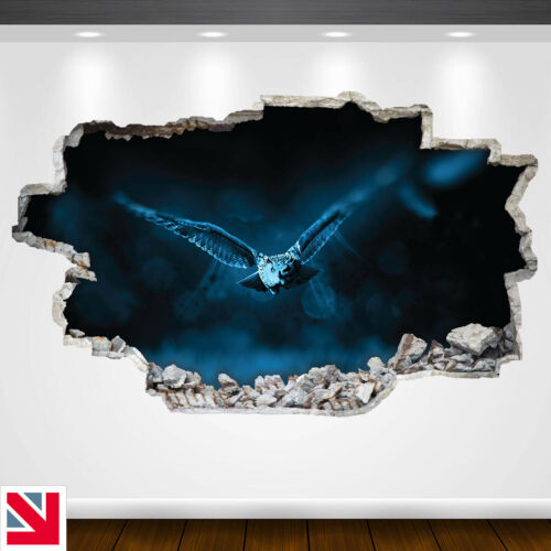 NIGHT OWL BIRD FLYING ANIMAL Wall Sticker Vinyl Decal Mural Poster