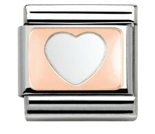 Nomination Charm Rose Gold Heart RRP £18