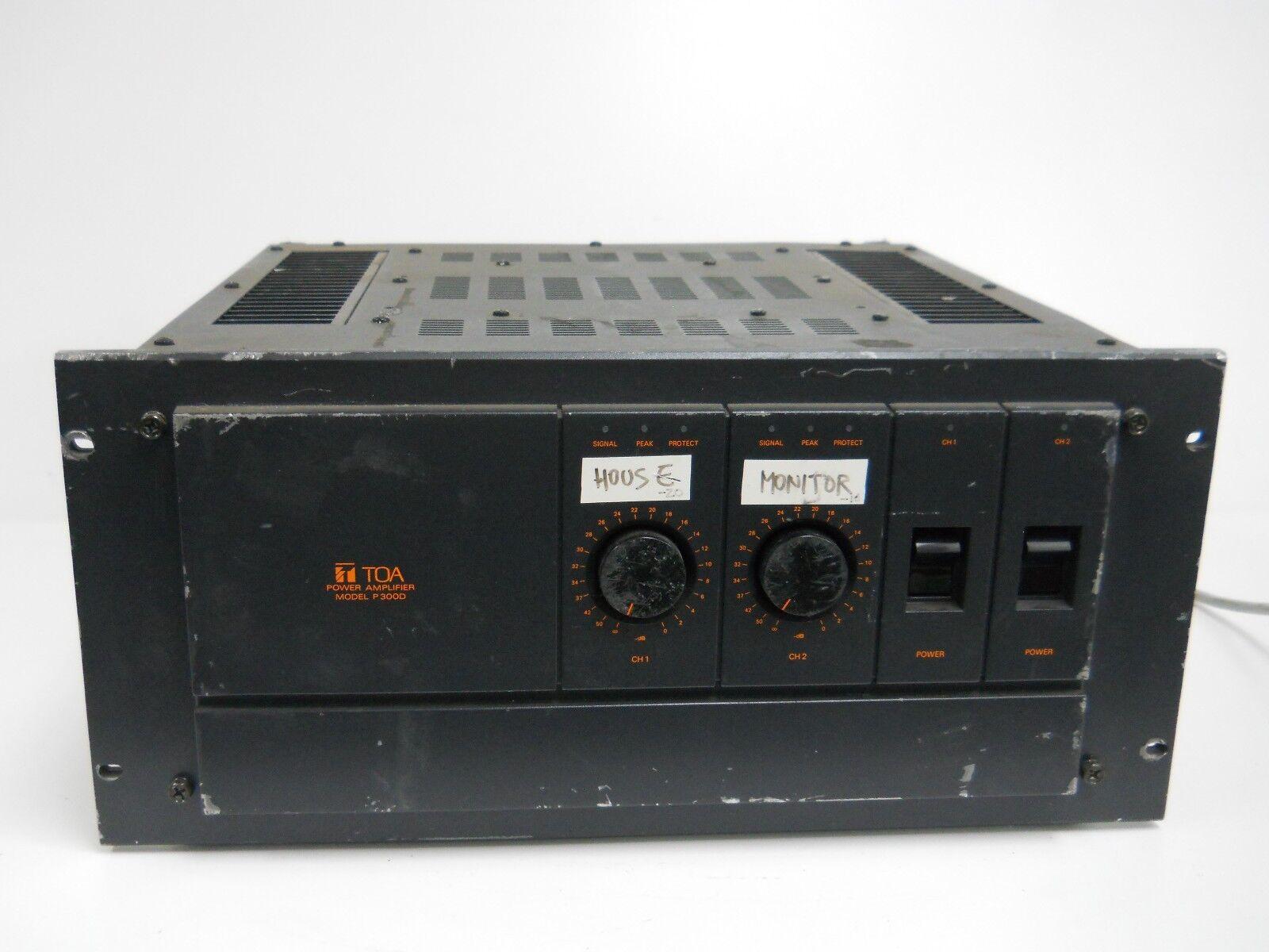 TOA Power Amplifier Model P300D