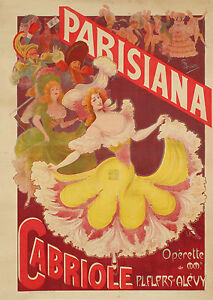 Affiche-Originale-G-Biliotti-Parisiana-Cabriole-Operette-Danse-1903
