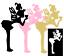 8-12 Heart Kiss Fairy Valentine Die cut Embellishment Cutout Cards Jar Lanterns