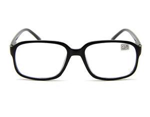 b4c820befc2 Image is loading Unisex-Black-Frame-Oversize-Square-READING-GLASSES-READERS-