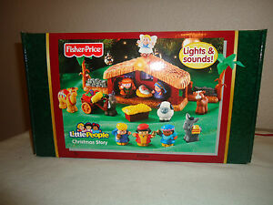 NEW-FP-Little-People-Christmas-Story-Nativity-Set-Music-034-Away-in-a-Manger-034-LIght