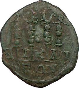 GORDIAN-III-238AD-Nicaea-Ancient-Roman-Coin-Four-Legionary-STANDARDS-i22683