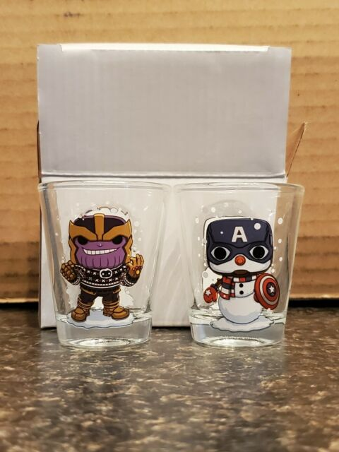 Captain America and Thanos Holiday Toothpick Holders Collectors Corps Funko POP
