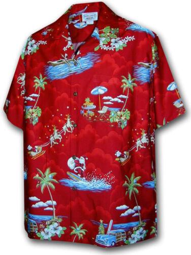 PLA ORIGINALE Hawaii Camicia A Maniche Corte NATALE CHRISTMAS X-MAS Made IN Hawaii