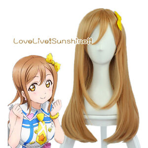 LoveLive-Sunshine-Kunikida-Hanamaru-60cm-Linen-Brown-Cosplay-Hair-Wig-E115
