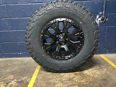 "F150 Rims And Tires Package >> HELO HE878 17x9 Black Wheels Rims 33"" AT Tires Package 6x135 Ford F150 F-150 