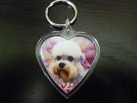 Dandie Dinmont Dog Gift Keyring Dog Key Ring heart Birthday Gift