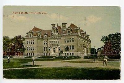 Fanartikel Pittsfield Ma High School Baseball Spiel 1916 Postkarte Auswahlmaterialien