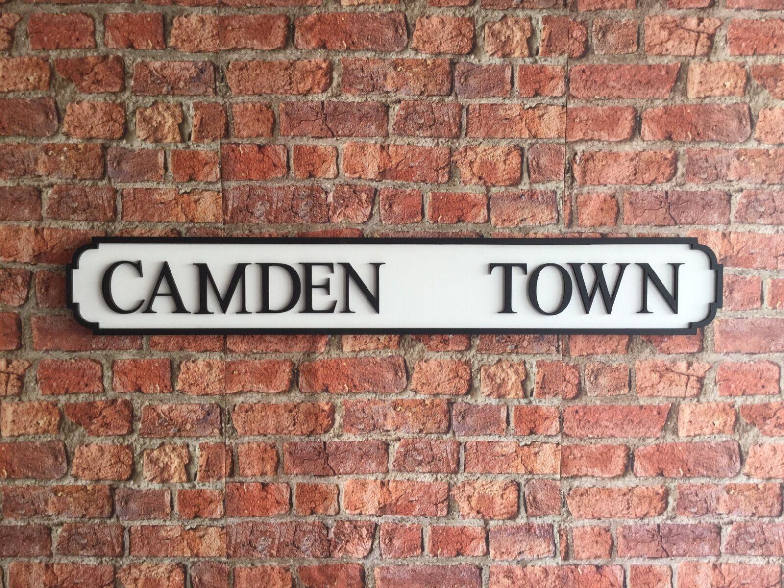 Camden Town Vintage Wood Street Cartello Stradale