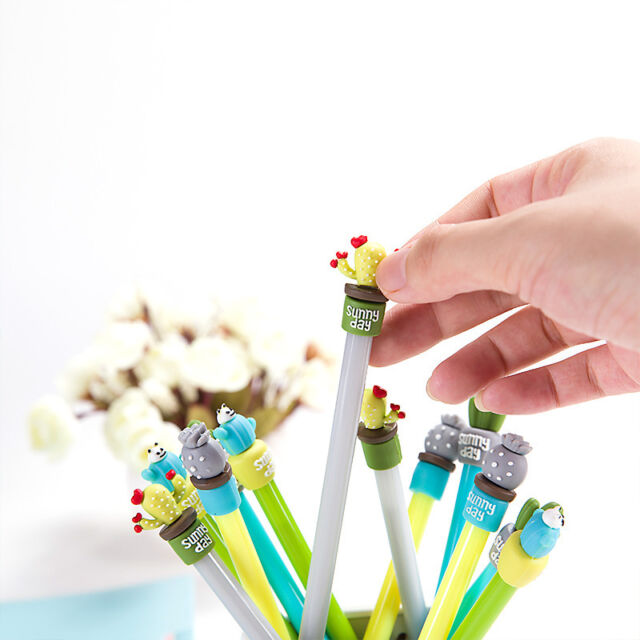 Cute Gift To Kid Cartoon Cactus Plant Children Stationery Neutral Pen 0.5mm 1Pcs