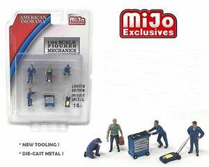 Mechanic-Workshop-Set-Figurines-Also-For-Hot-Wheels-Blue-Box-1-64-American-dior