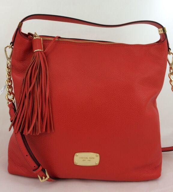 New Michael Kors MK Bedford Large TZ Shoulder Purse Tassel Handbag leather d4948a7e2c9bd