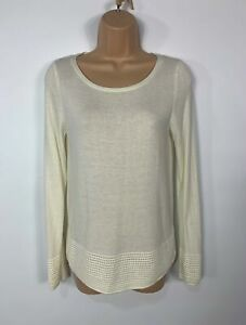 WOMENS-MONSOON-IVORY-KNITTED-LONG-SLEEVE-JUMPER-SWEATER-PULL-OVER-TOP-SIZE-UK-8