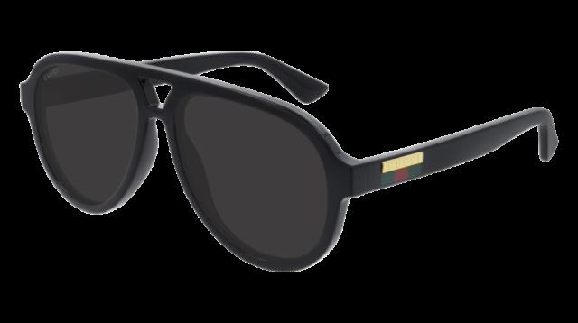 Gucci Lunettes de soleil GG0767S  001 Homme gris noir