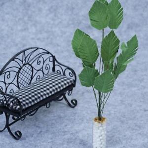 1-12-Green-Banana-Tree-in-White-Pot-Dollhouse-Miniature-Garden-Plant-DIY-Toys