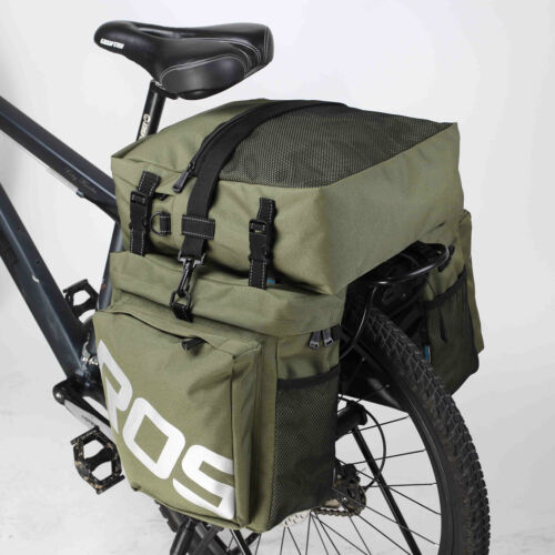 35-LTR 3-in-1 Dreifach Fahrradtasche Set Fahrrad Rück Schultertasche Roswheel UK