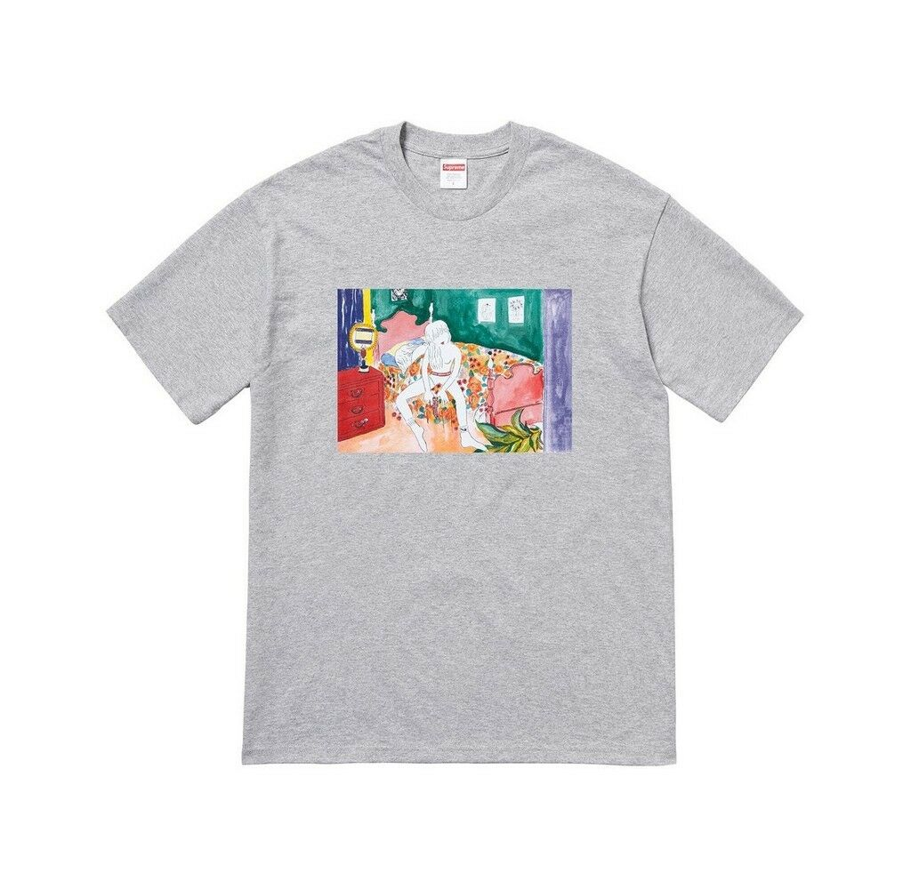 SUPREME Bedroom Tee rosso rosso Tee Navy Heather grigio M L box logo camp cap tnf F/W 18 6dea60