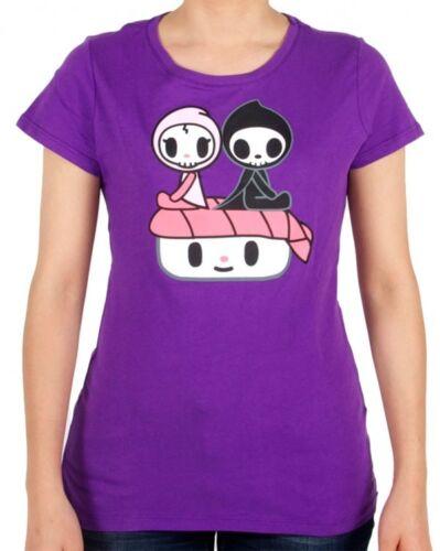 Tokidoki Sushi Date Adios Women Junior Purple T-shirt Tee WBTE06116