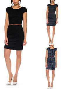 Vero-Moda-kurzes-Damen-Kleid-mit-Guertel-Abendkleid-Business-Etuikleid-schick-NEU