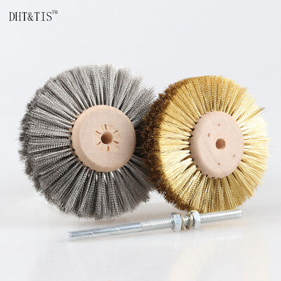 3 Inch Brass Cup Wire Wheel Copper Brush Rotary For Angle Grinder Bore 16mm 2Pcs