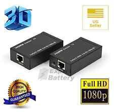 NEW HDMI/DVI Balun Extender over Cat 5e/6 Ethernet Converter 1080p to 196ft 60M