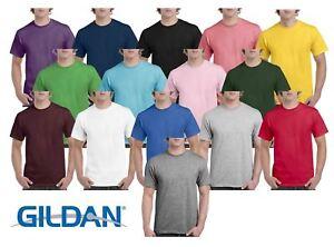 Gildan-Mens-Hammer-Plain-Crew-Neck-T-Shirts-100-Cotton