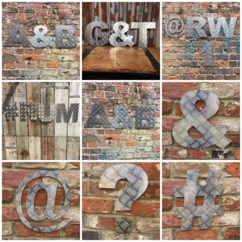 """# 12"""" Aluminium Lettering Letters Sign Metal Shop House Industrial Number Symbol"""