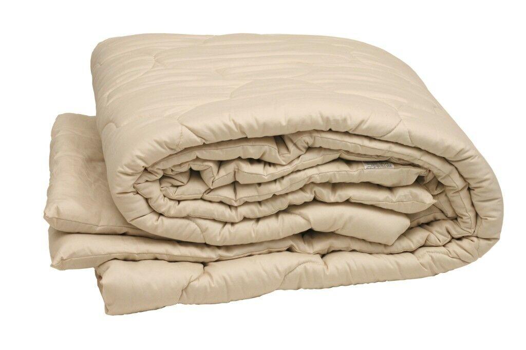 100% Organic Wool FULL QUEEN COMFORTER Down Alternative