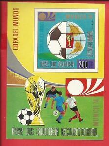 Fußball-weltmeisterschaft 1974 Block 77 Äquatorialguinea Postfrisch Afrika Äquatorialguinea