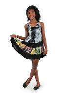 Children/girls Black Cotton Summer Dress, Made In India. Size Large.