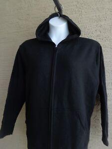 New-Just-My-Size-2X-Eco-Smart-Sweats-Zip-Front-Hooded-Sweatshirt-Black