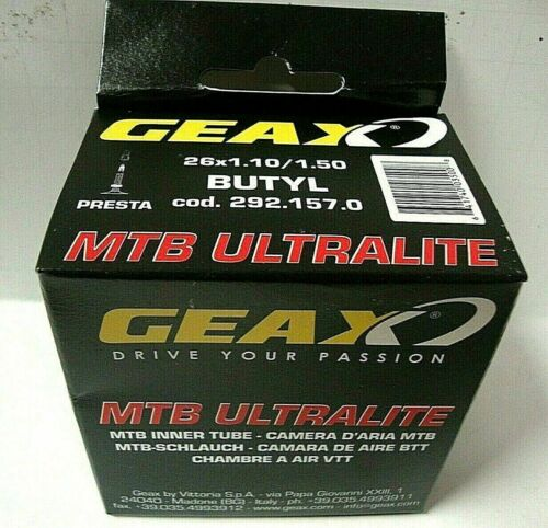 Bicycle Geax Ultralite MTB Tube 26 x 1.00-1.50 Presta