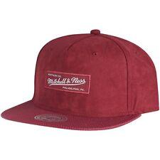 Mitchell & Ness Snapback Cap - CARBON Brand Logo burgundy