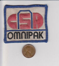 Vtg CSA Omnipak Patch-Cycling-White Red Blue-Embroidered-Bike Road Race 2 Wheel