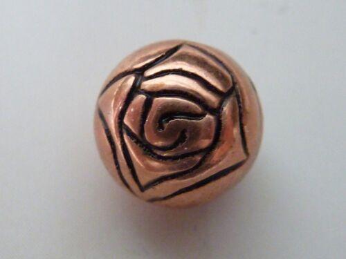 ROSE PERLE Blume Metall Kugel rund verziert 10 mm 2287