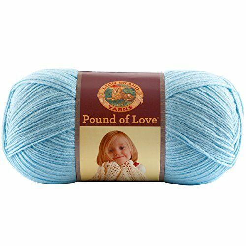 Lion Brand Pound of Love YARN 1 FULL Skein PASTEL BLUE
