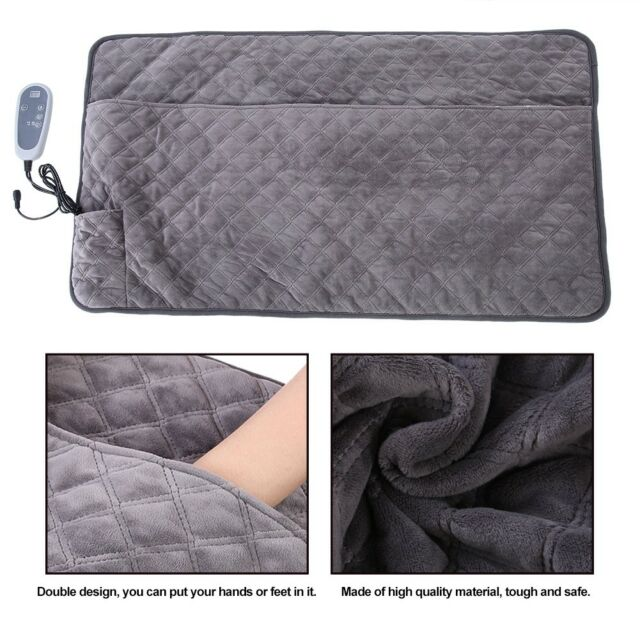 Adjule Temperature Electric Heated Throw Bedding Winter Warm Double Blanket For Online Ebay