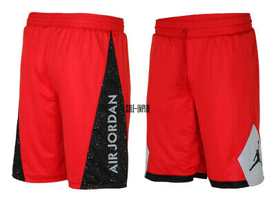 Air Jordan Mens Retro 5 Reversible Basketball Shorts Red//Black//Grey New