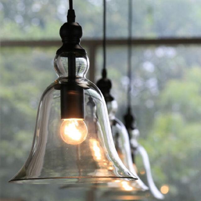 New Vintage Industrial Pendant Light Ceiling Lamp Glass Lamp Shade Light Fixture
