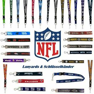 NFL-Football-Lanyard-amp-Schluesselband-29-Teams-Seahawks-Patriots-Fanartikel