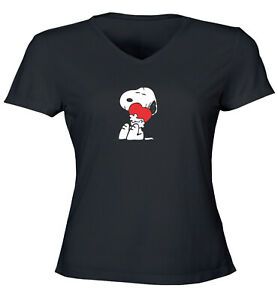 Snoopy-Charlie-Brown-Comics-Cute-Heart-Love-Hug-Juniors-Teen-Tee-T-Shirt-Gift