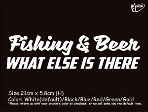 FISHING-amp-BEER-WHAT-ELSE-IS-THERE-Reflective-Funny-Car-Boat-Sticker-Best-Gift