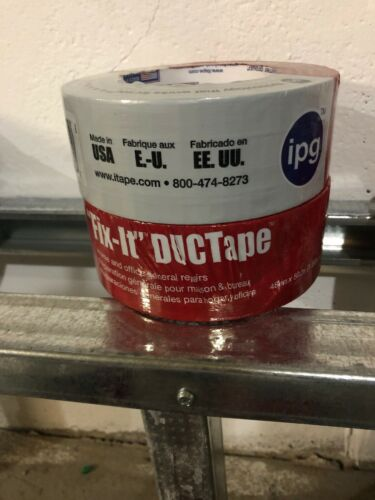 """2 Rolls IPG """"Fix-It"""" DUCTape 1.88/"""" x 55 yds Duct Tape Silver"""