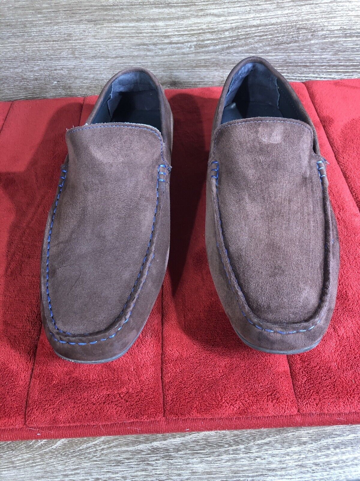 MENS JOSEPH ABBOUD BROWN LOAFERS 91020 US SIZE 12 NICE