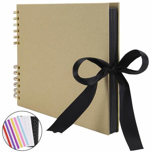 """12.4/""""L x 8.27/""""W Scrapbook Foto Album 80 pagine album fai da te fatte a mano carta artigianale"""