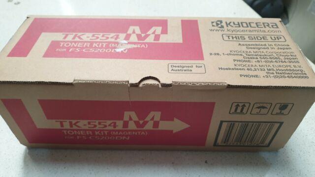 Genuine Kyocera TK-554M Magenta Toner For FS-C5200DN Brand New See Pics